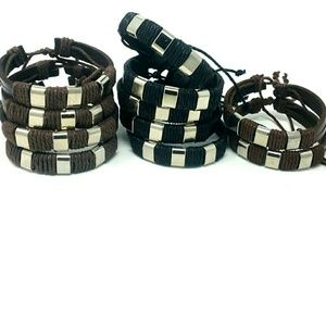 11 Genuine Leather Unisex Bracelets